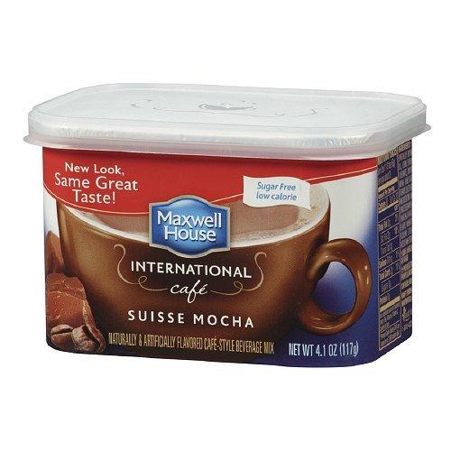 Maxwell House International Cafe Style Beverage Mix, Sugar Free, Swiss Mocha Cafe 4.1 oz(pack of 2)