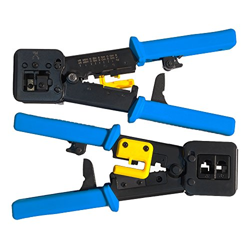 EZ-RJ45 Crimp Tool for Pass-Through and legacy connectors | Professional High Performance Crimper Tool