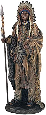 StealStreet SS-G-11358 Native American Warrior Collectible Indian Decoration Figurine Statue