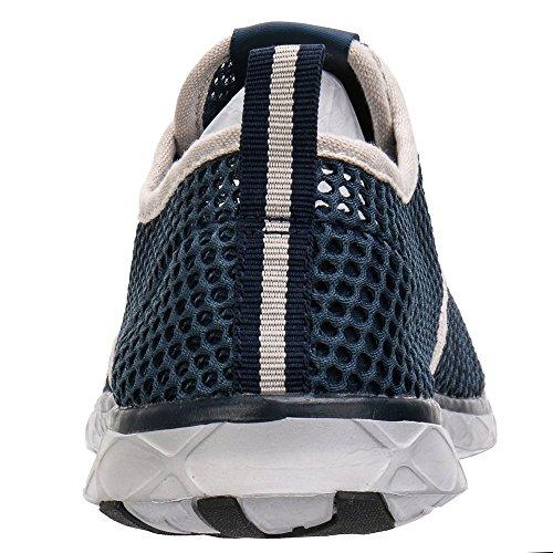 ALEADER Mens Quick Drying Aqua Water Shoes Blue 8.5 D(M) US