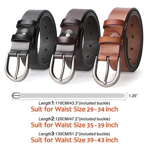 Women Belts for Jeans Dress Pants,SUOSDEY Black Genuine Leather Belts for Women by SUOSDEY (Image #2)