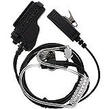 Tenqcovert Acoustic Tube Earpiece Headset Mic for Motorola Ht1000 Ht2000 Jt1000 Radio Security Door Supervisor