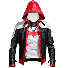 Batman Arkham Knight Red Hood high quality faux leather Men JACKET AND VEST COSTUME