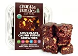 Chunkie Dunkies RAW VEGAN Chocolate Fudge Brownies 4 packs (20 oz.)