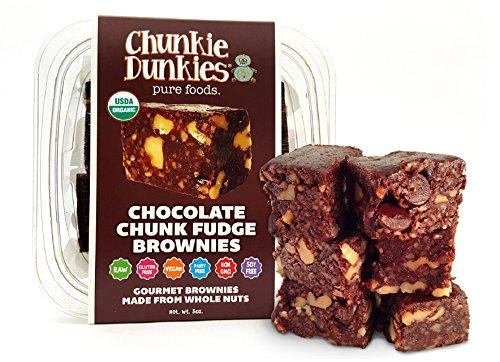 Chunkie Dunkies RAW VEGAN Chocolate Fudge Brownies 4 packs (20 oz.) by Chunkie Dunkies