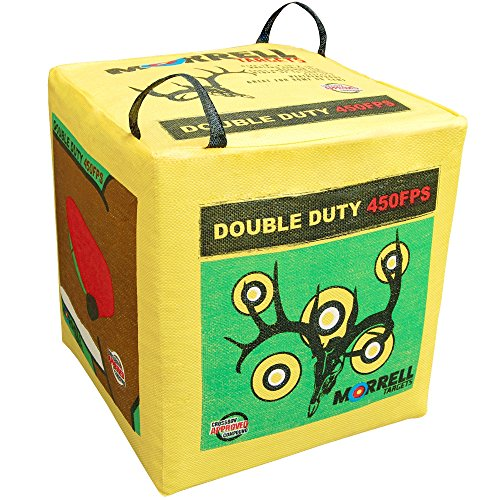 Morrell 131  Double Duty 450 FPS Field Point Archery Bag Target – for Crossbows, Compounds, and Airbows