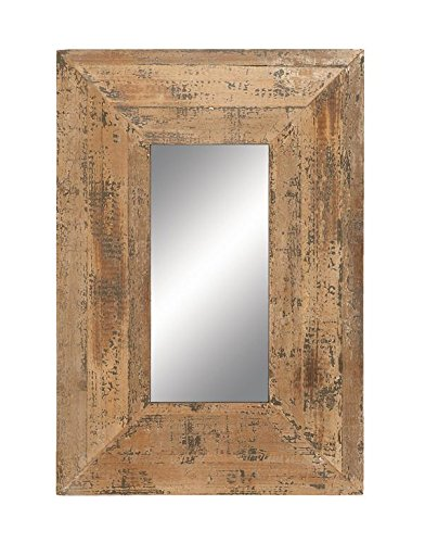 """Deco 79 69267 Looking Glass Style Mirror with Old Look Rectangle Frame - Made of wood Dimensions:22L""""X 31w""""x 5h"""" Made in china - bathroom-mirrors, bathroom-accessories, bathroom - 51SxnjtpSAL -"""