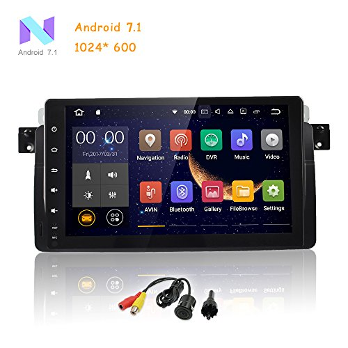 MCWAUTO for BMW E46 3er 318 320 325 M3 Rover75 MG ZT Android 7.1 Quad Core 9 Inch HD Digital Multi Touch Screen Car Stereo Radio Player GPS (Full Year 2006 Calendar)