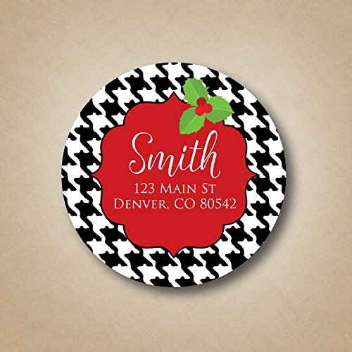Houndstooth Holiday Address Labels