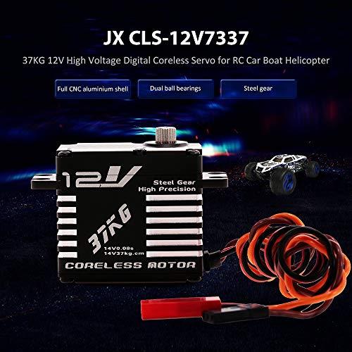 Part & Accessories JX RC Car CLS-12V7337 37KG CLS-HV7346MG 46kg 12V 330hZ Aluminium Digital Coreless Servo for RC Helicopter RC Boat RC Airplane - (Color: CLS-12V7337 - Coreless Servo Speed