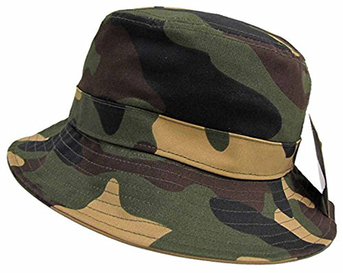 Access Men's Camouflage Bucket Hat One Size - Camouflage Woodland Boxers