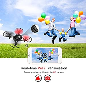 Metakoo Drone with Camera Live Video WiFi FPV, M5 Training Quadcopter RTF Racing Drone for Beginners with Altitude Hold, One Key Landing/Take Off, 3D Flips, Headless Mode, Easy Operation Safe for Kids from METAKOO