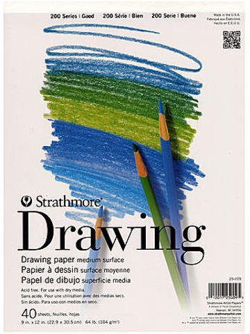 2 pcs sku# 1826122MA 9 In. x 12 In. Pad Strathmore Student Art Drawing Paper Pad