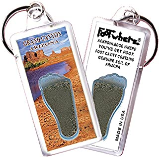 product image for Grand Canyon FootWhere Key Chain (GC106 Desert Pond). Authentic Destination Souvenir acknowledging Where You've Set Foot. Genuine Soil of Featured Location encased Inside Foot Cavity. Made in USA