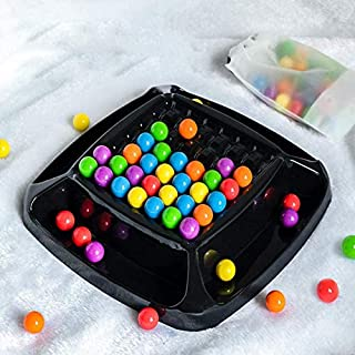 Logical Thinking Imagination Rainbow Ball, Color Beads Elimination Game, Rainbow Puzzle Magic Chess for Rainbow Beads Parent Interaction Family Game Set