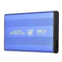 "SODIAL(R) USB 3.0 HDD SSD SATA External Aluminum 2.5"" Hard Drive Disk Box Enclosure Case up to 1TB 2.5"" SATA external case"