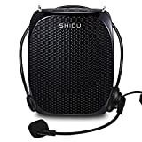 SHIDU S515 Voice Amplifier Portable, with a Handfree Wired Headset Microphone & Adjustable Waist Band, Lightweight Voice Amplifiers for Singing, Teaching, Meeting and more (Black)