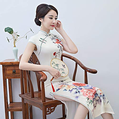 Bingqz Elegante Signora Slim S Nuova Spettacolo Vestito Autunno Quotidiana Moda Cheongsam Sottile Stampa ZRrZaFz