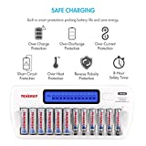 Tenergy TN160 LCD Battery Charger 12-Bay Smart