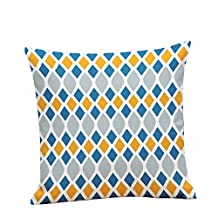 Geometry Patten Throw Pillow Case Decorative Cushion Cover Pillowcase Colorful Square 18*18 in J18