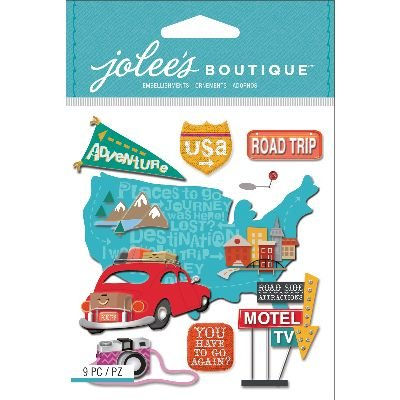 Jolee's Boutique Dimensional Stickers, Road Trip