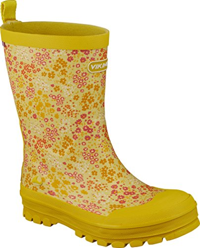 Viking Unisex-Kinder Mimosa Gummistiefel Gelb (Yellow/Multi)