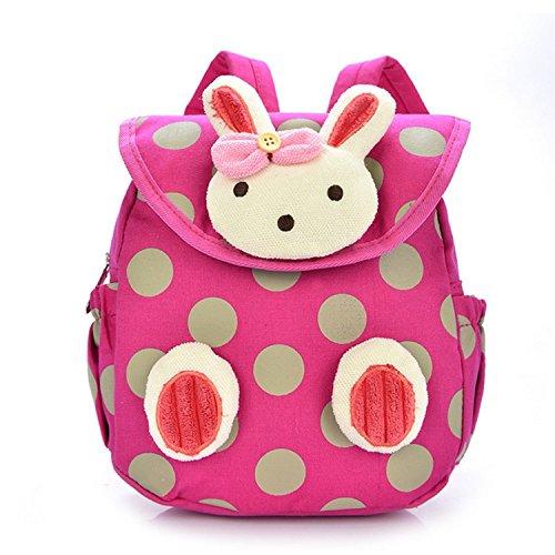 URAQT Baby Kindergarten Baumwolltuch Schulrucksäcke, Kinder Mini Rucksack, Kindergartentasche Backpack, Karikatur Tier Muster für Outdoor / Sports / Camping / Picknick Rucksäcke