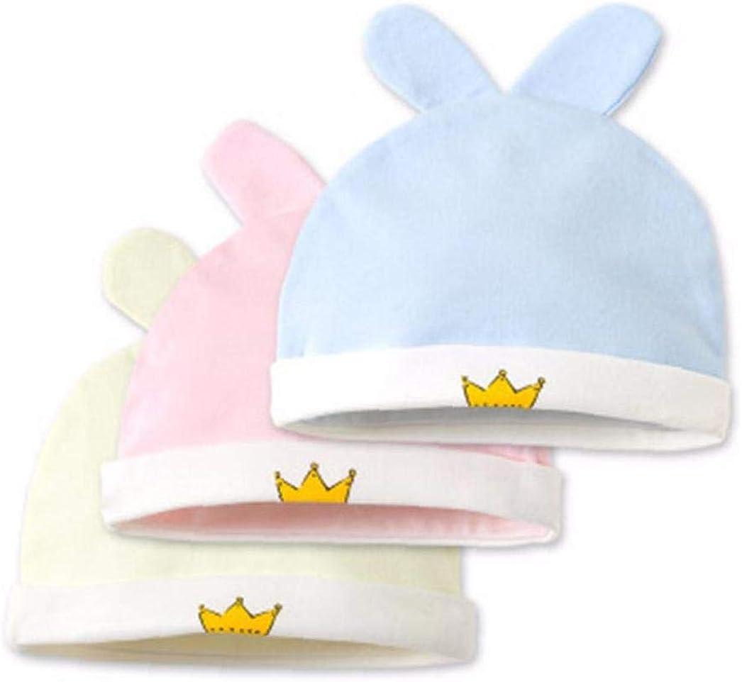 N//A Cappellino Cappello Neonato Neonata con Nodo Cotone per Ospedale