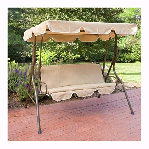 Porch Swing and Glider, 2-Person Canopy Swing Loveseat Outdoor Porch Patio Chair ()
