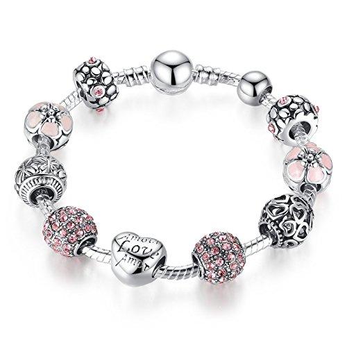 A-TE-Bracelet-Charms-Femmes-Cristal-Rose-Email-Rose-Amour-Cadeau-JW-B127