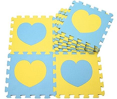 10 pcs Esterillas de juegos para niños Colchonetas de espuma para bebé Baby Crawling Mat Esteras Del Rompecabezas para Arrastrar y Estudiar a ...