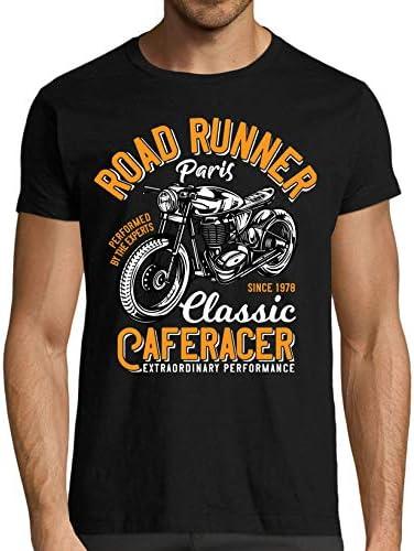 T-Shirt Moto Premium Noir Road Runner Cafe Racer