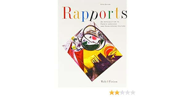 Amazon.com: Rapports: An Introduction To French Language And ...