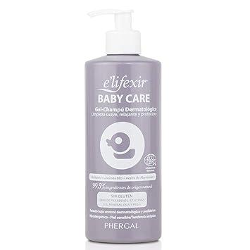 Elifexir Baby Care, Gel Champú Dermatológico Hipoalergénico para Bebés, 500ml