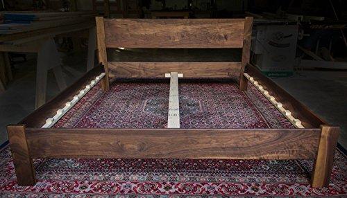 Walnut Platform Bed Frame with Straight 14