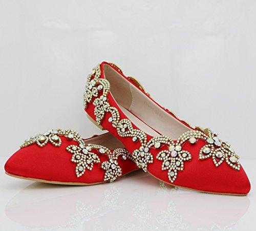 MGM-Joymod , Sandales Compensées Femme - Rouge - Red, 36.5