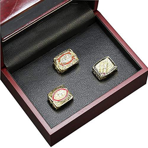 Washington Redskins Display - HASTTHOU 1972 1982 1987 Washington Redskins Championship Replica Ring by Display Box Set- Fashion Gorgeous Collectible Jewelry