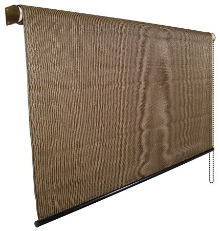 Cool A Roo 474775 8' X 6' Mocha Cordless Sun Shade With UV Block by Gale Pacific