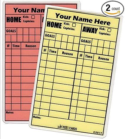 Amazon.com: Fútbol Write-On árbitro tarjetas, personalizado ...