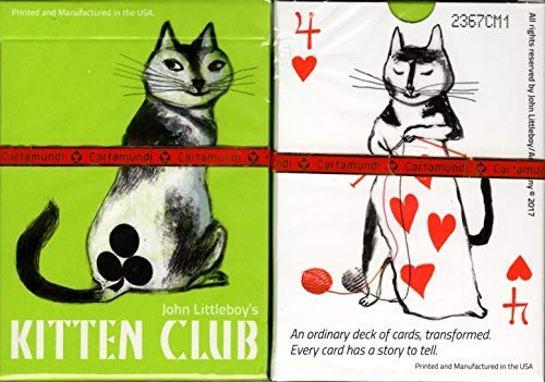 - Artiphany Kitten Club Cat Playing Cards Poker Size Deck Cartamundi Custom Limited Edition