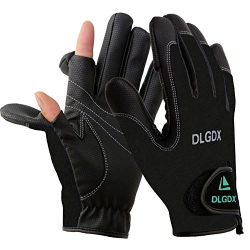 Posa 2 Cut Fingers Fishing Gloves Skidproof Sun Protection Fishing Tackle for...