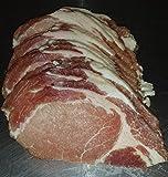 Uncured Nitrite Nitrate free Smoked Traditional Pork Loin Bacon- 1 lb British Back Bacon Rasher