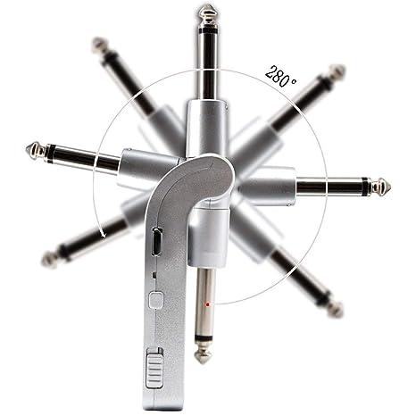 XuBa Receptor transmisor inalámbrico para Guitarra, 2.4 G, batería de Litio Recargable incorporada,