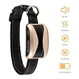 #10: Bark Collar [Intelligient Chip] Dog Anti Bark Collar with Beep, Vibration and Harmless Static Shock Rechargeable No Barking Control Collar for Small/Medium/Large Dogs with Adjustable 7 Gears - Black