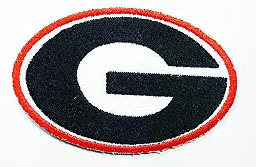 Georgia Bulldogs Ncaa Football Logo Patch Embroidered Iron on Hat Jacket Hoodie Backpack Ideal for Gift/ 7.5cm(w) X 4.8cm(h) - Embroidered Hoodie Jacket