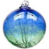 Kitras Witch Ball, Cobalt/Green