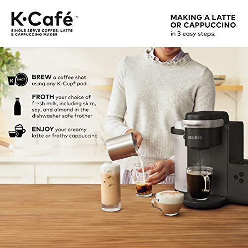 Amazon.com: Keurig K-Cafe Single-Serve, K-Café, Carbón (dark ...