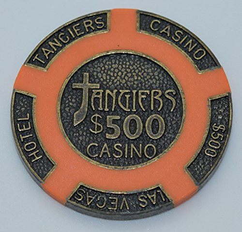 Poker Chip - (1) $500 Tangiers 16 gram Clay Composite Brass (Brass Poker Chips)
