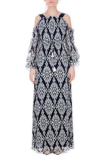 Tory Burch Women's Dress 46693 433 Blue/White 1/I SPRING SUMMER 2018 p2aPODf