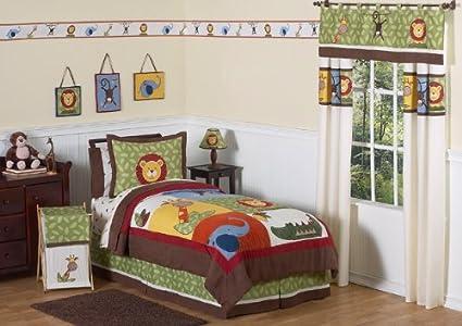 amazon com sweet jojo designs jungle time children and kids bedding rh amazon com